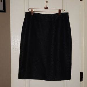 Le Suit Black Animal Printed Skirt
